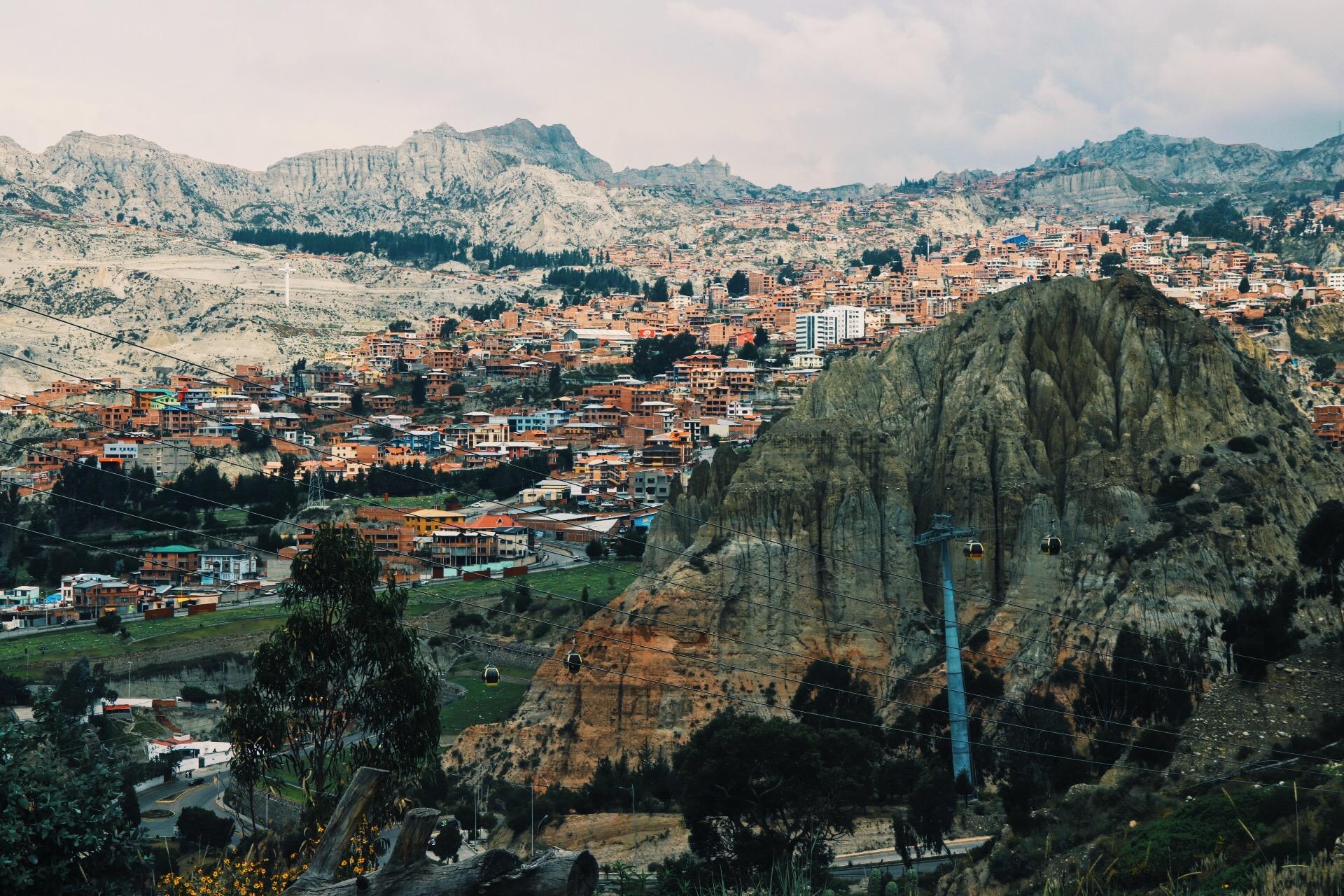 Beautiful Rock formations in La Paz.