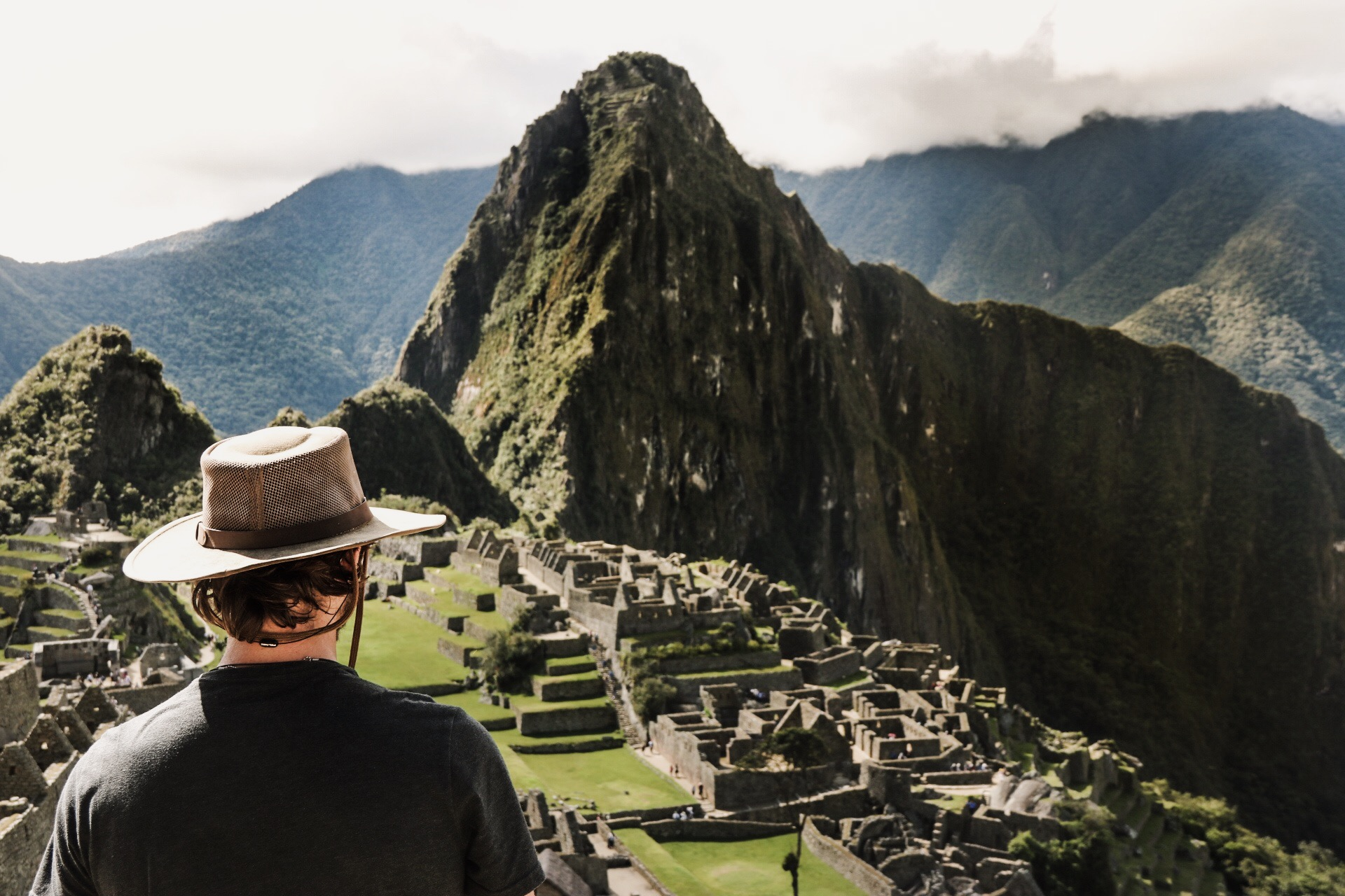 Trevor looking out at the Inca Ruins.