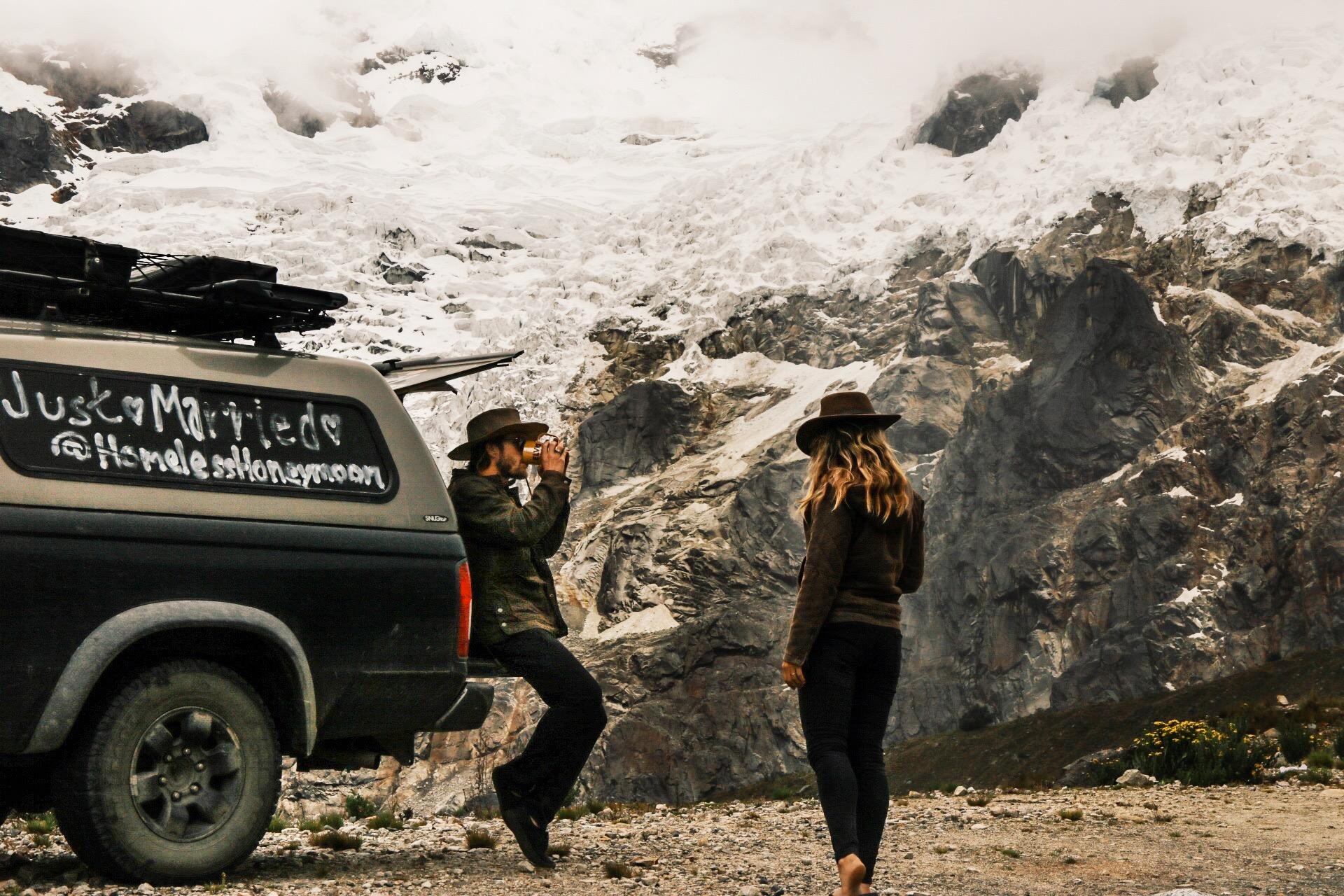A roadside camp in Huascaran