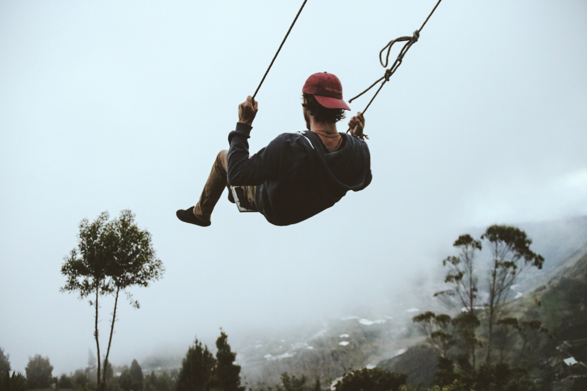 Trevor trying the swing!