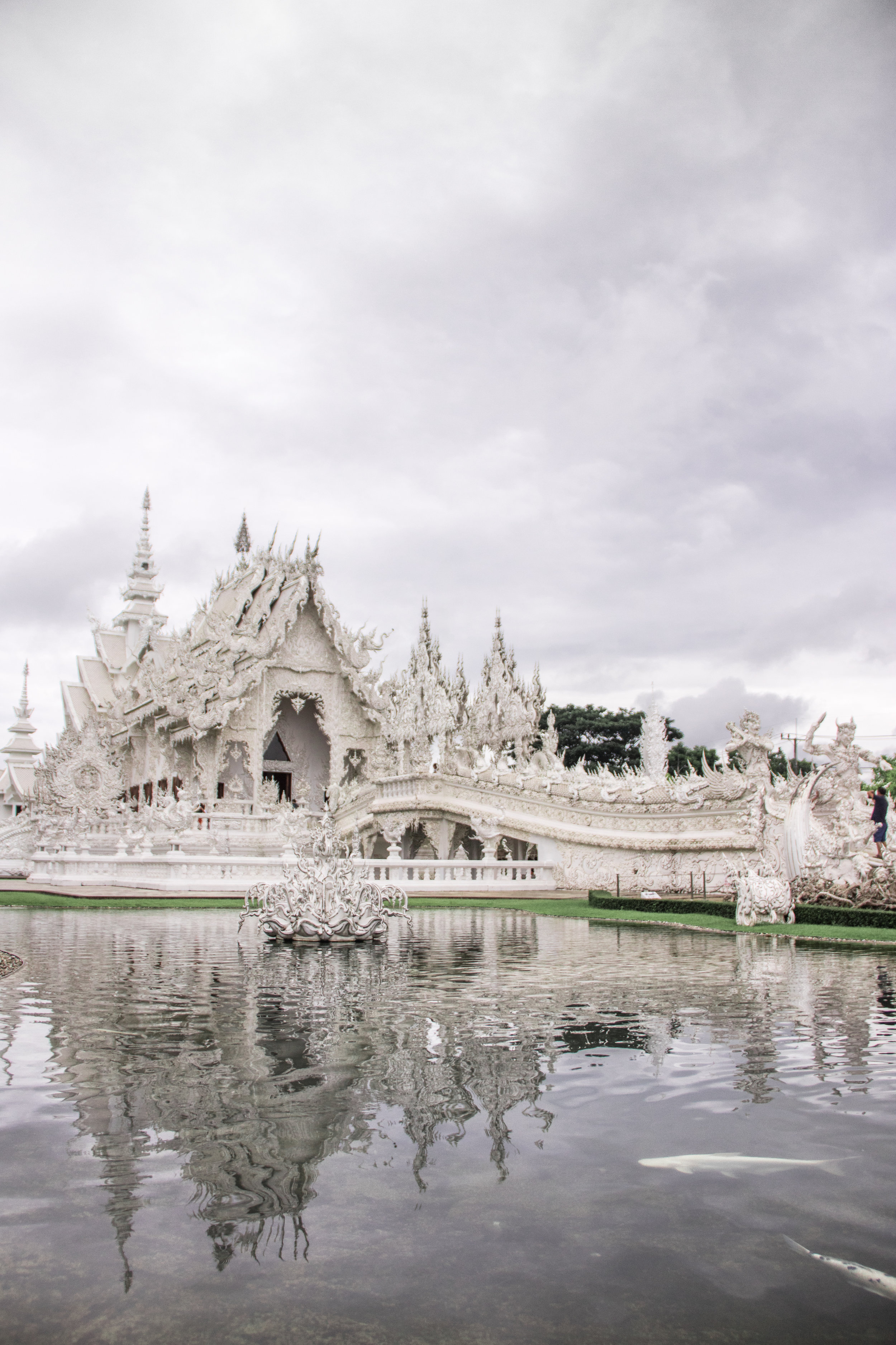 The White Temple in Chiang Rai.