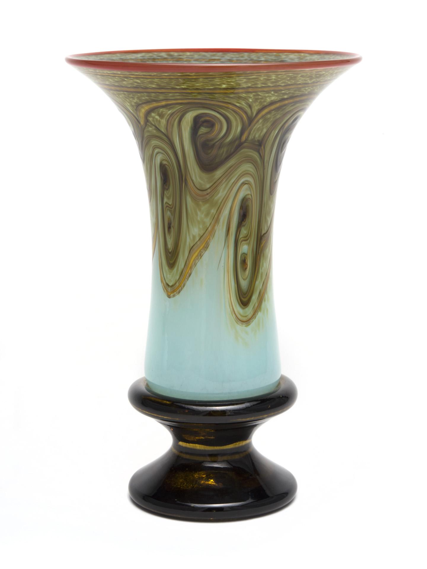 Pedestal Vase- Celadon Swirl zapp.jpg