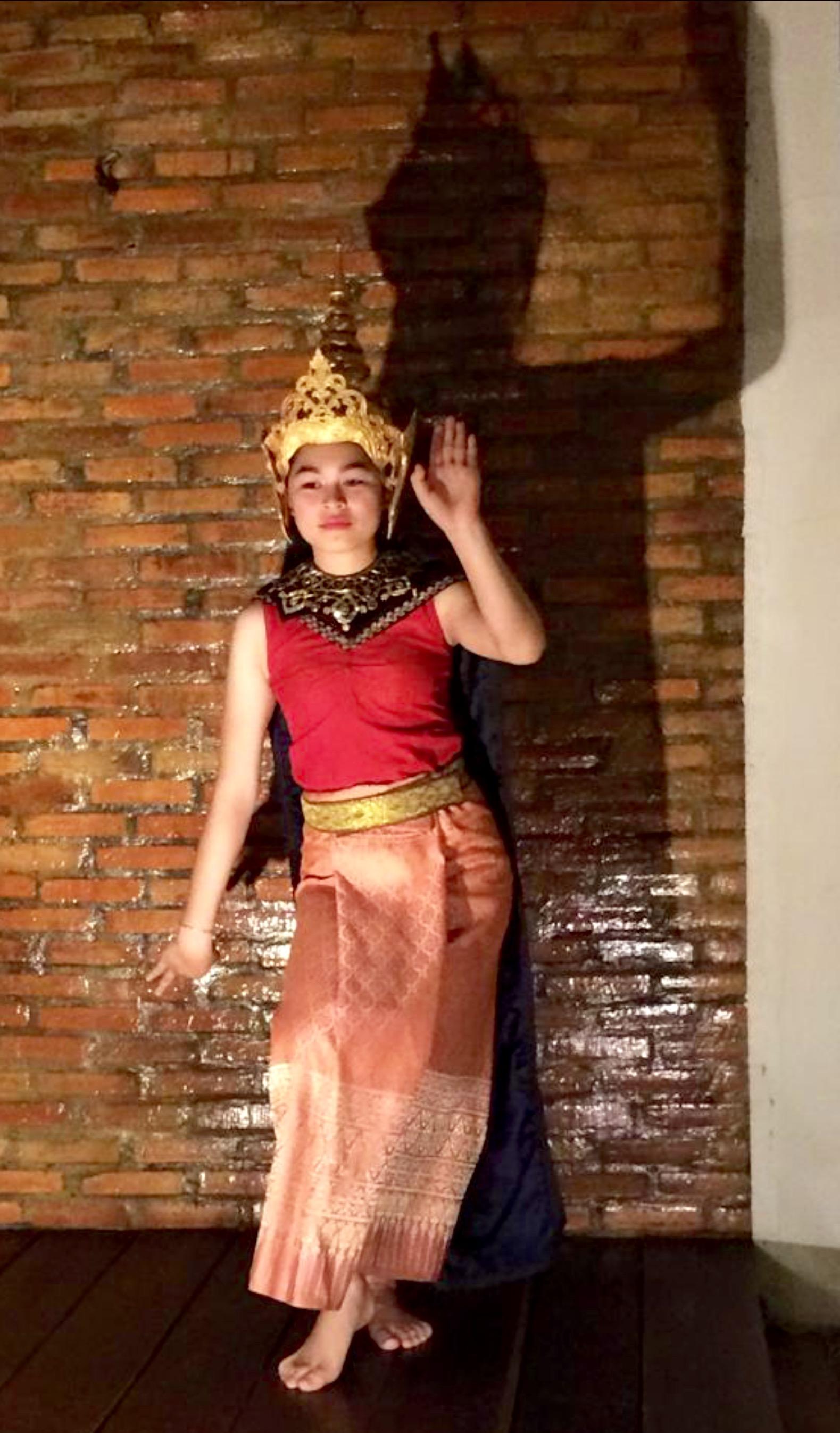 Traditional dancer performing at Sonphao, Luang Prabang