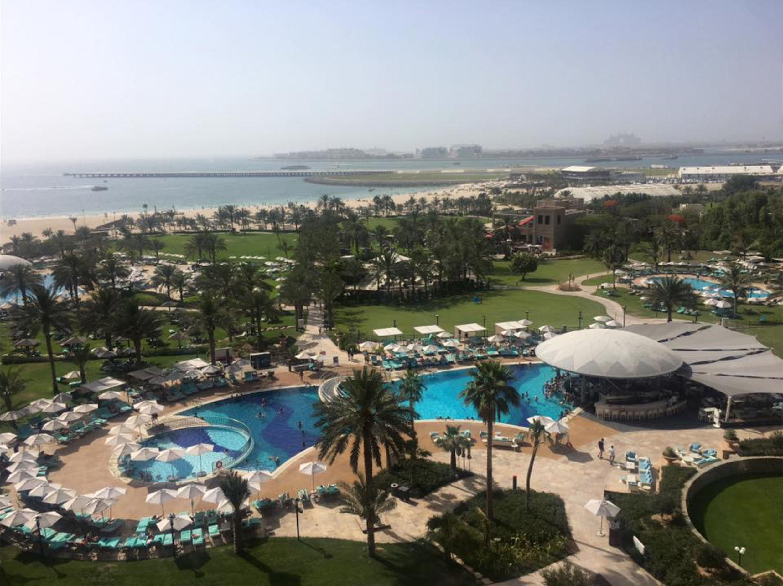 View from balcony, Seaview room Royal Meridien Jumeirah Beach