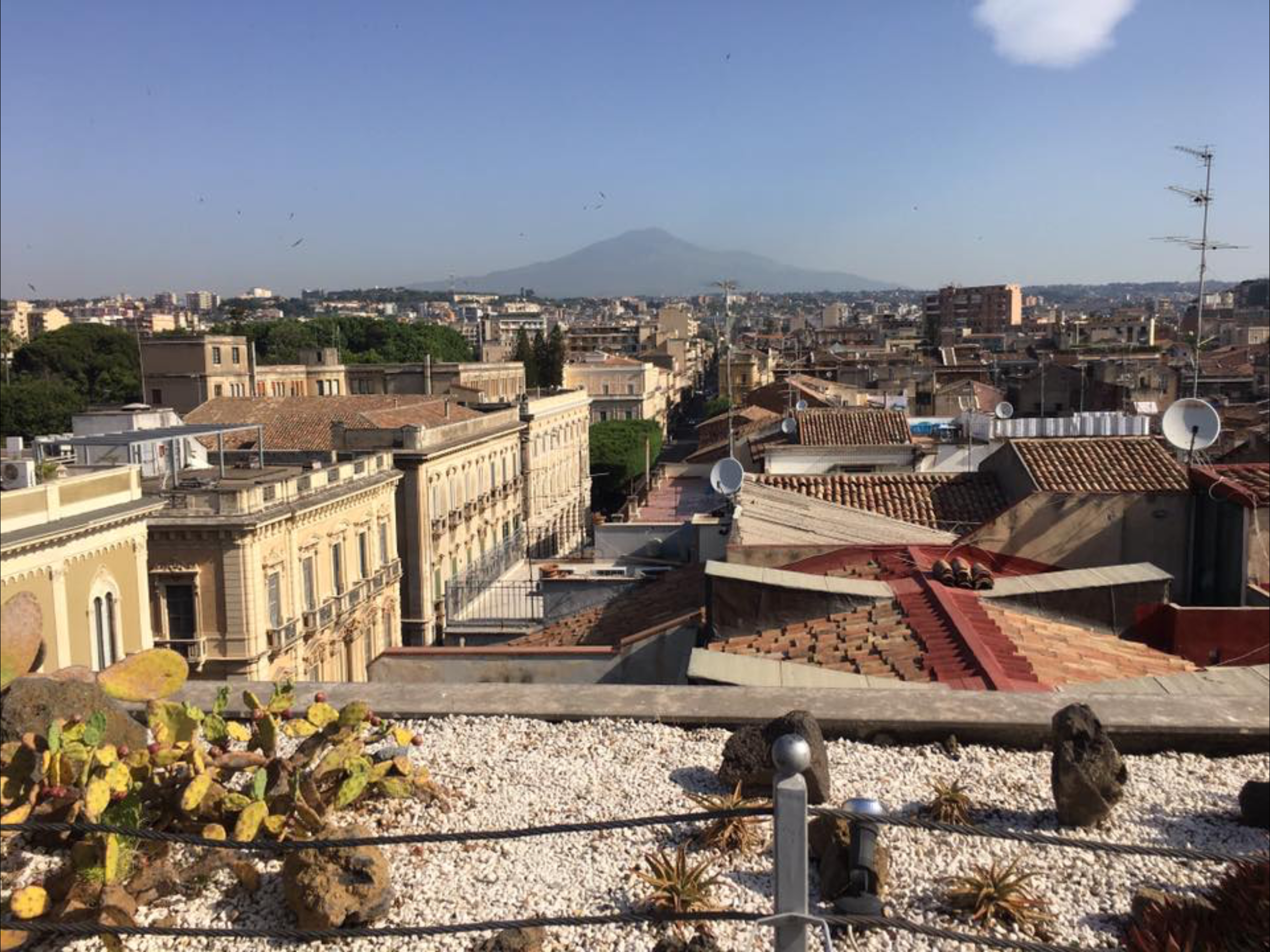 Rooftop view at Una Hotel, Catania