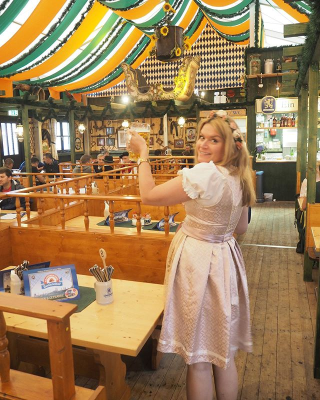 I've just uploaded my Oktoberfest blog post. Prost! ���� �We dropped into Haxnbraterei for lunch as they have the best food and were lucky enough to be able to finish our steins and watch as the tent started festivities �Swipe right for a snippet of the full tent!  #haxnbraterei #oktoberfest #oktoberfest2019 #weisn2019 #weisn #munich #stein #meadowoftherese #theresienweise #tripstagram #girlsthatwander #thetravelwomen #travelhackers #globelletravels #ladiesgoneglobal #iammissadventure #girlaroundworld #traveldreamseekers #darlingescapes #femmetravel #iamtb #doyoutravel #traveladdict #travelinaangelina #bohohipgypsies #dreamless_travelmore #roamingwomen #damestravel