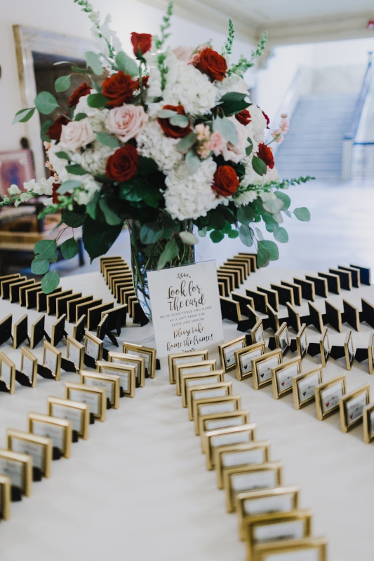 Have yet to top this stunning escort card table.