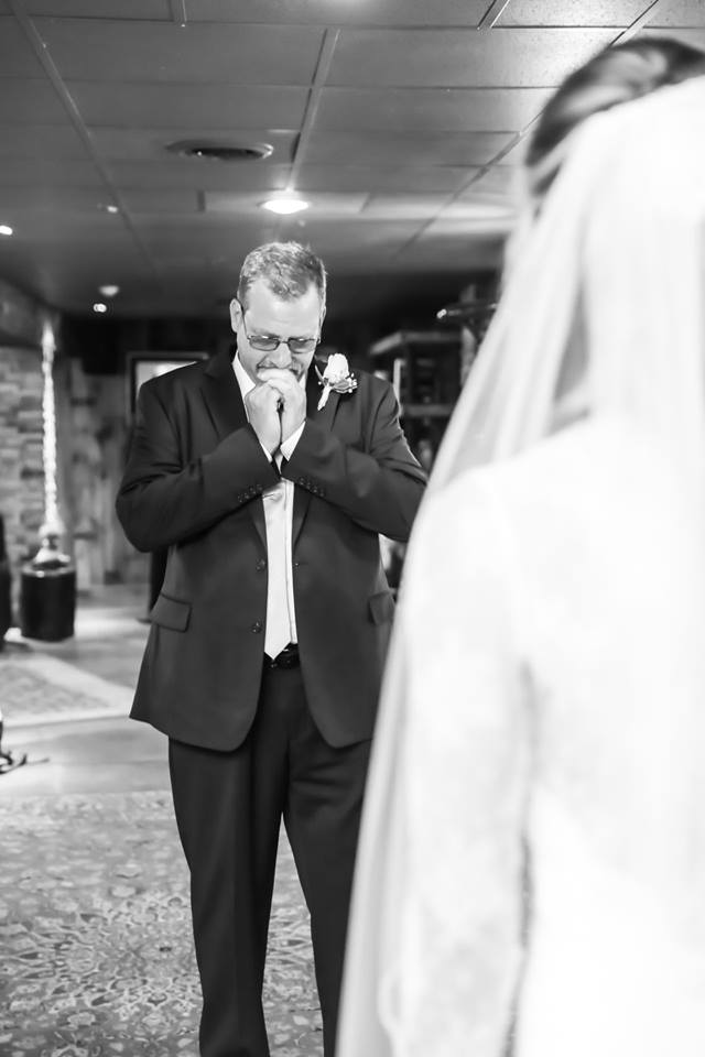 Dad's reaction! Photo: Brit Lee Photography