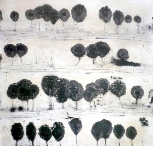 Àncores a la terra    Black pigment on wood   selected works 2010 - 2015