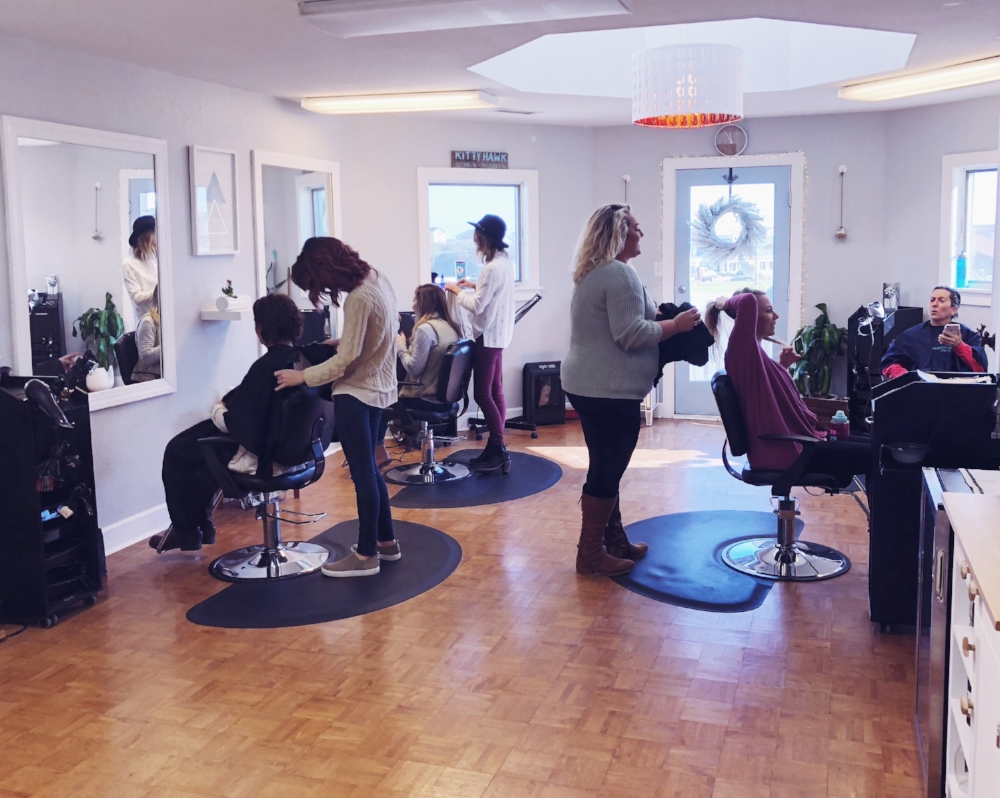 Our stylists hard at work before the Christmas rush!