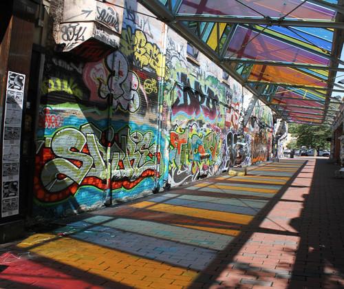 Cambridge Graffiti Wall