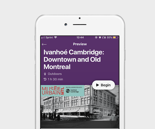 Musée McCord lets visitors discover downtown Montreal with the additional city tour feature in their app.