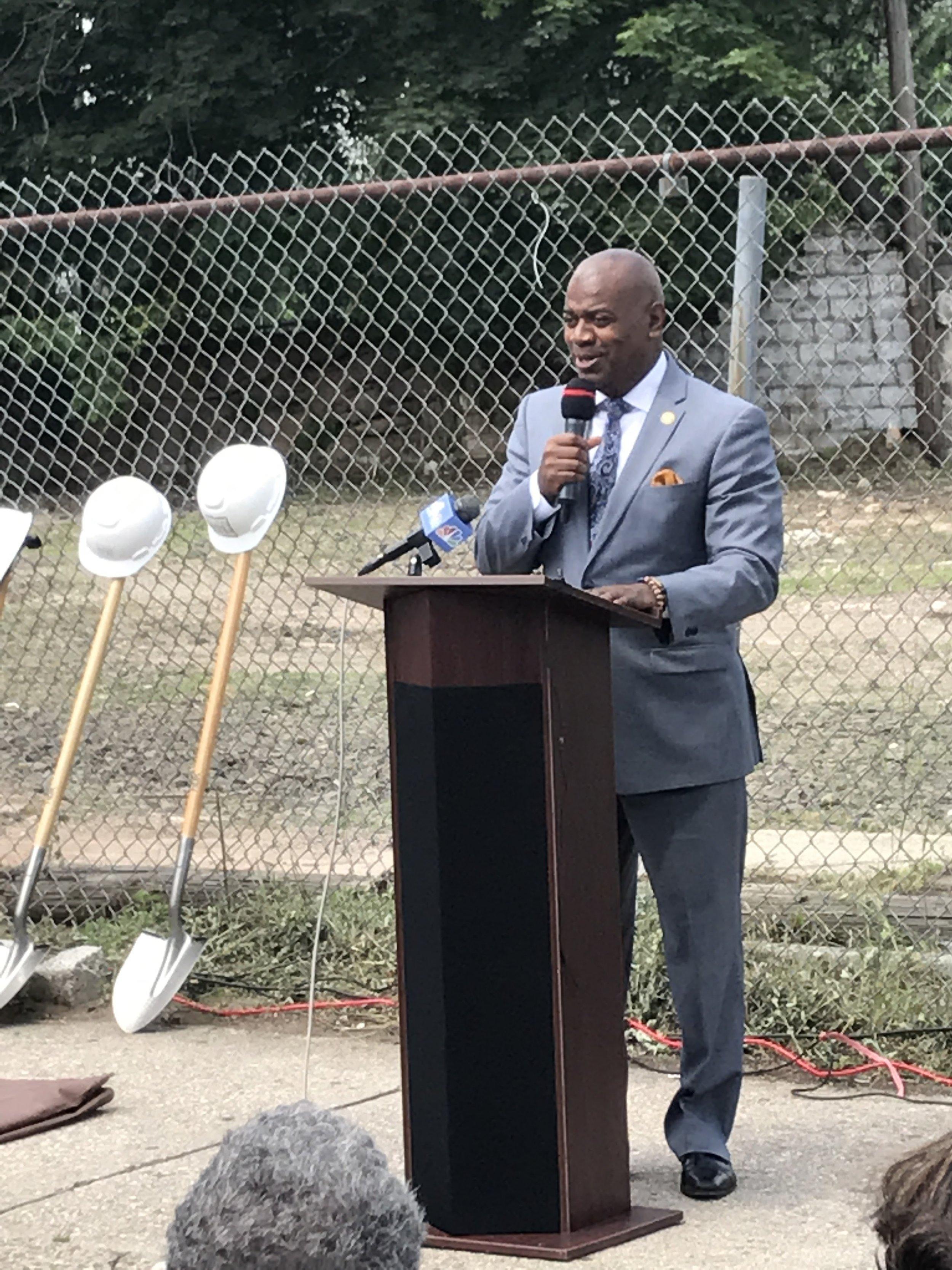 Mayor of the city of Newark, Ras J. Baraka.