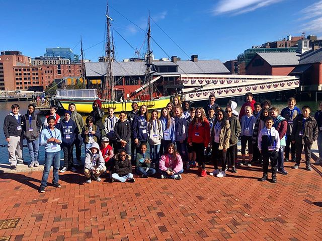 Reliving history at the Boston Tea Party Museum.  #historycomesalive #middleschool