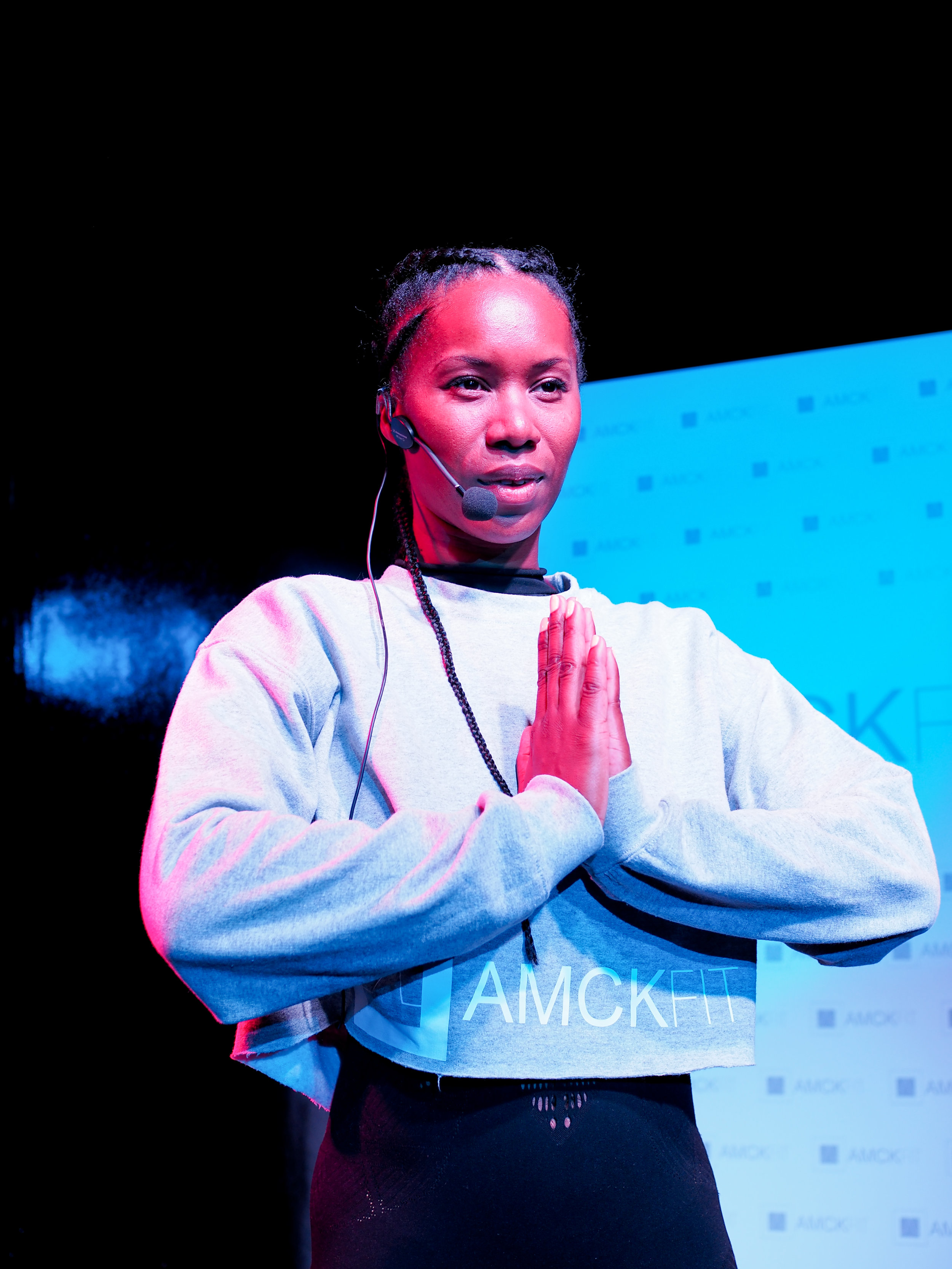 Aicha McKenzie during the launch rehearsals