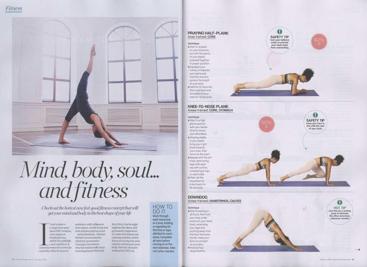 = - Mind, body, soul... AMCK FIT featured in the January 2018 issue of Women's Fitness!