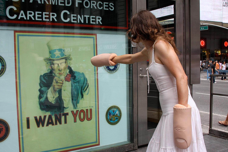 Judging manipulative recruiting tactics.  Photography: Ji Lee, 2008