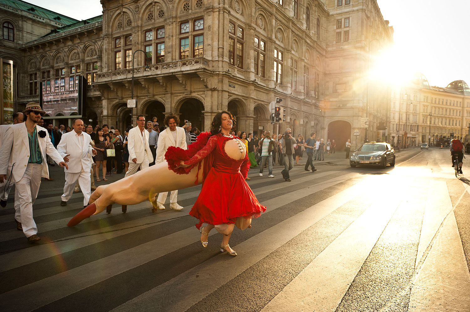THE UTTERLY DANGEROUS MAN-EATING DIVA TAKING ON THE STREETS OF VIENNA