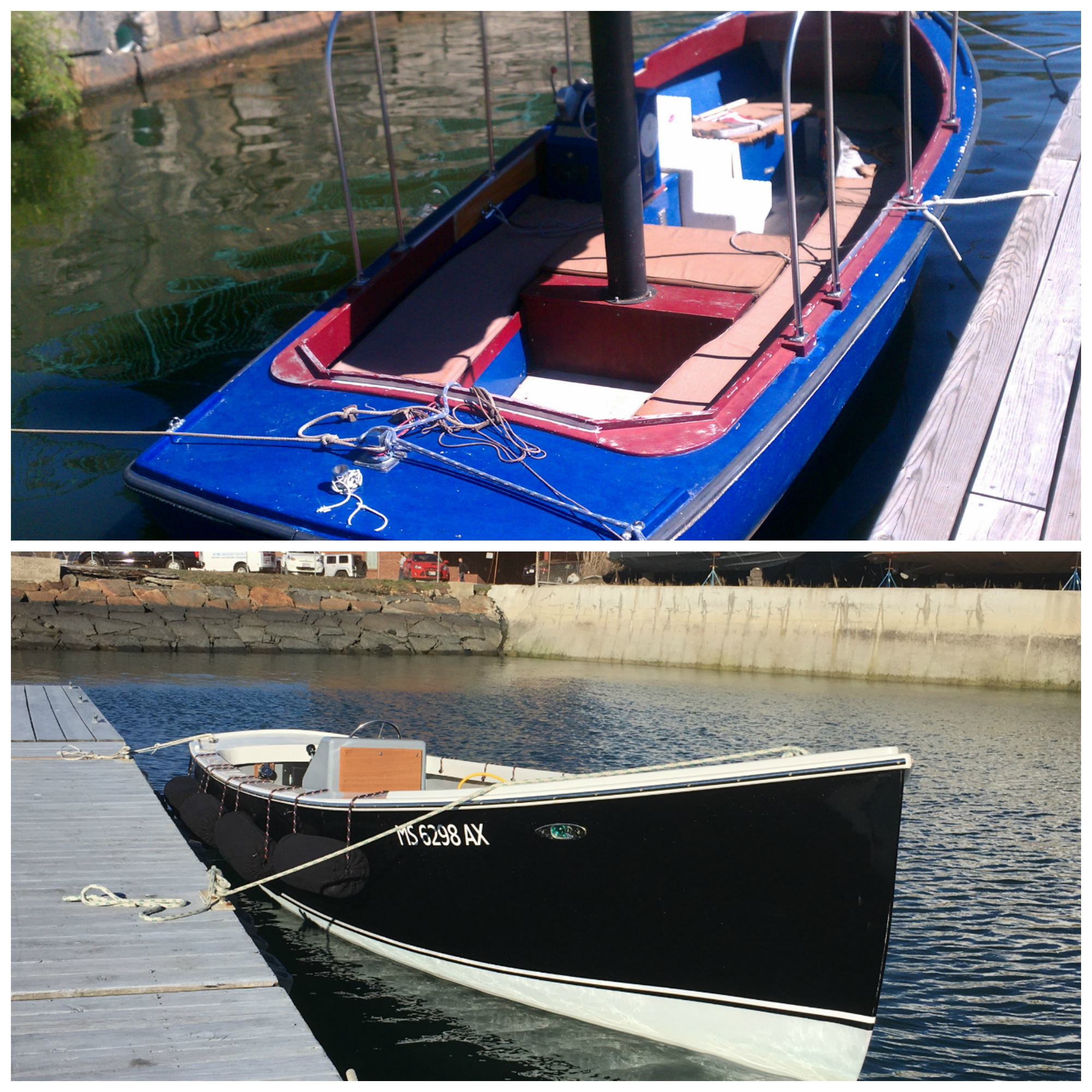 Restoration of a 20 foot Duffy launch