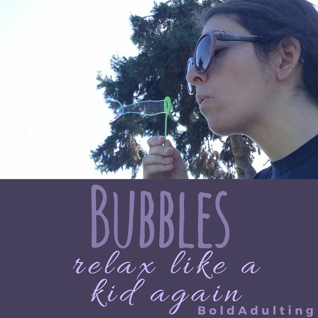 You'd be surprised how many people will want to blow bubbles if you are. Even if they won't immediately admit it.