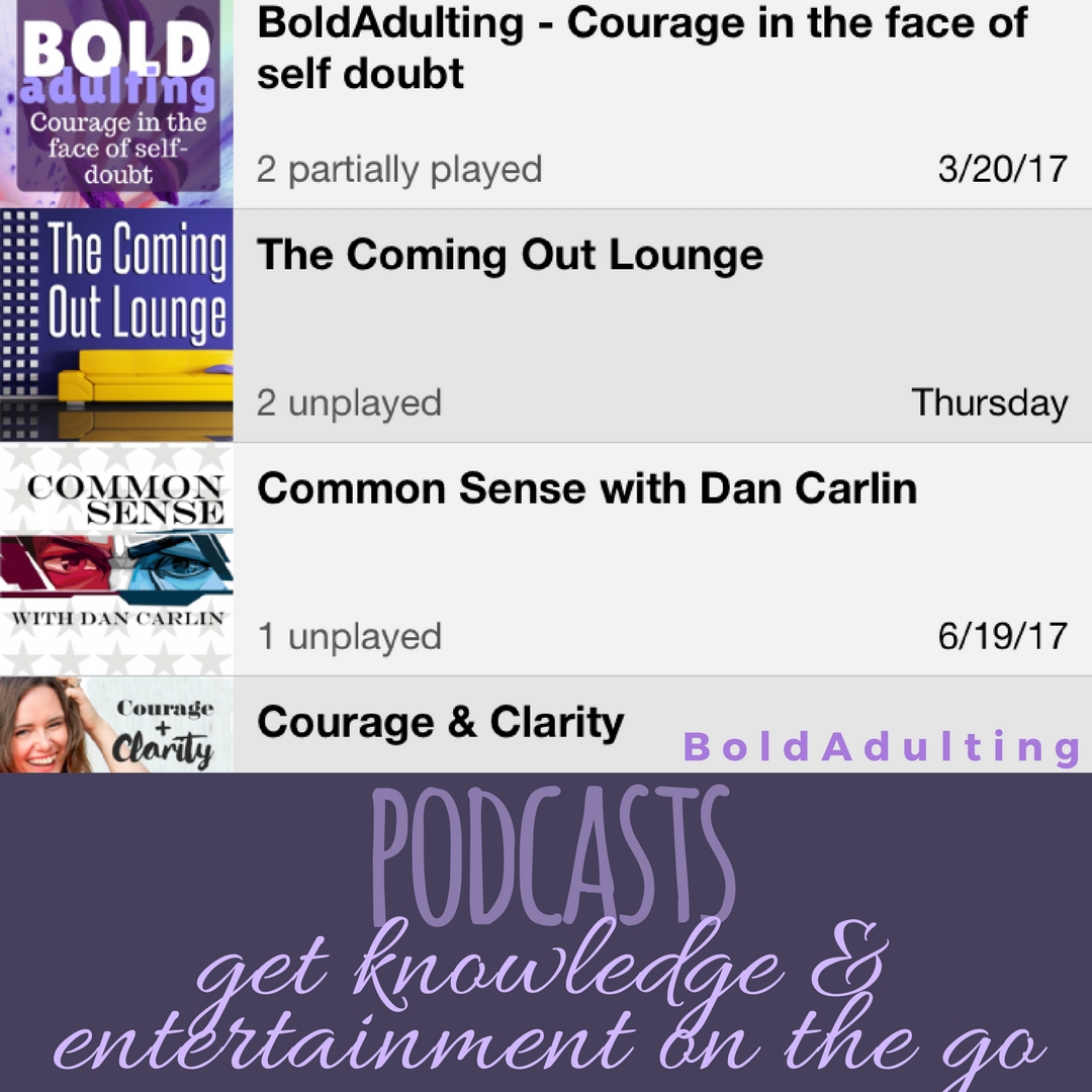 You'd be surprised how much better exercise, traffic, and boring tasks are when you can entertain yourself.  Podcasts  are also great for people who find themselves not reading much because they don't like to sit still for long periods of time!
