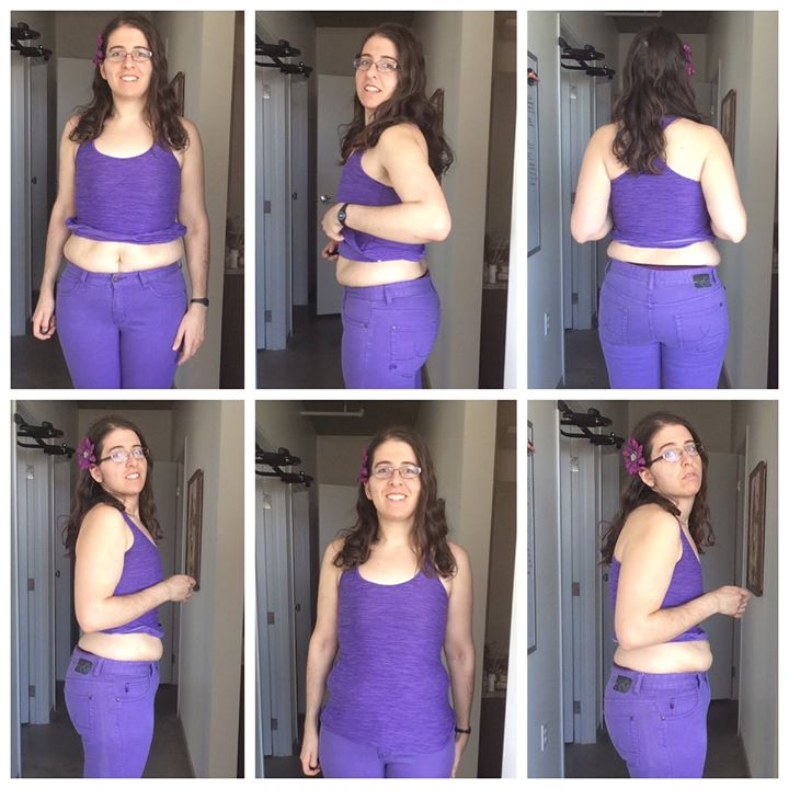 """^^Notice how easy it is to make yourself look """"less attractive"""" in a before picture (bottom right of the above picture). Good reason to be skeptical of the before and after pictures you see!"""