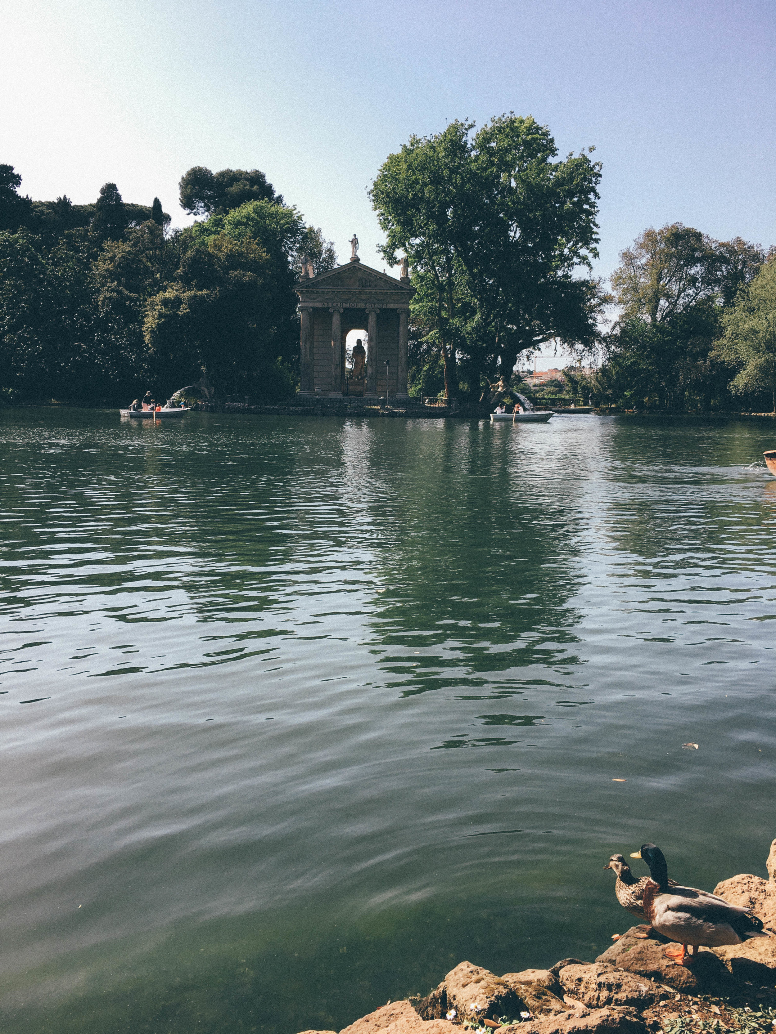 Borghese Gardens Pond with the God of Medicine