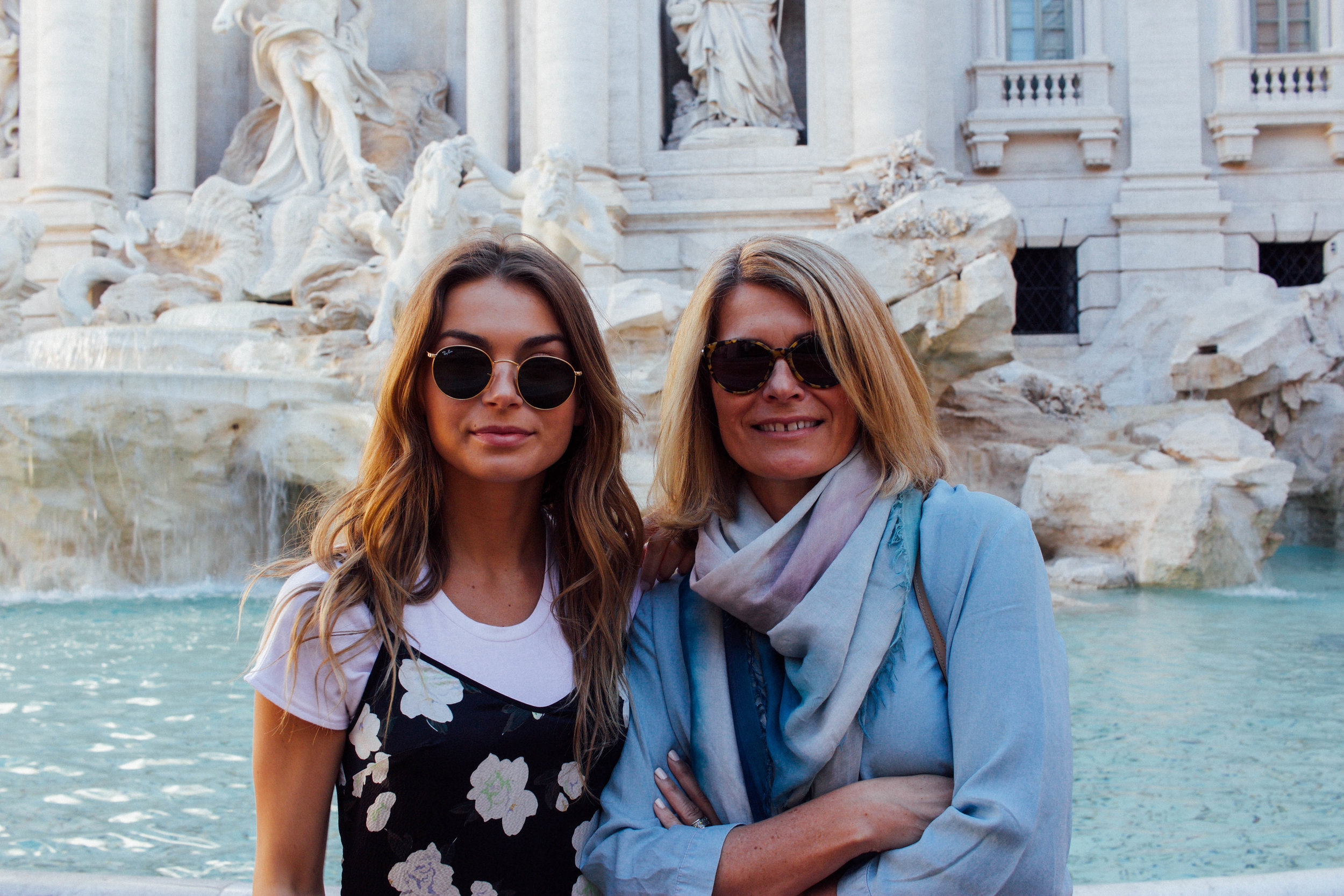 Me and Mum at the Trevi Fountain 7:30AM!