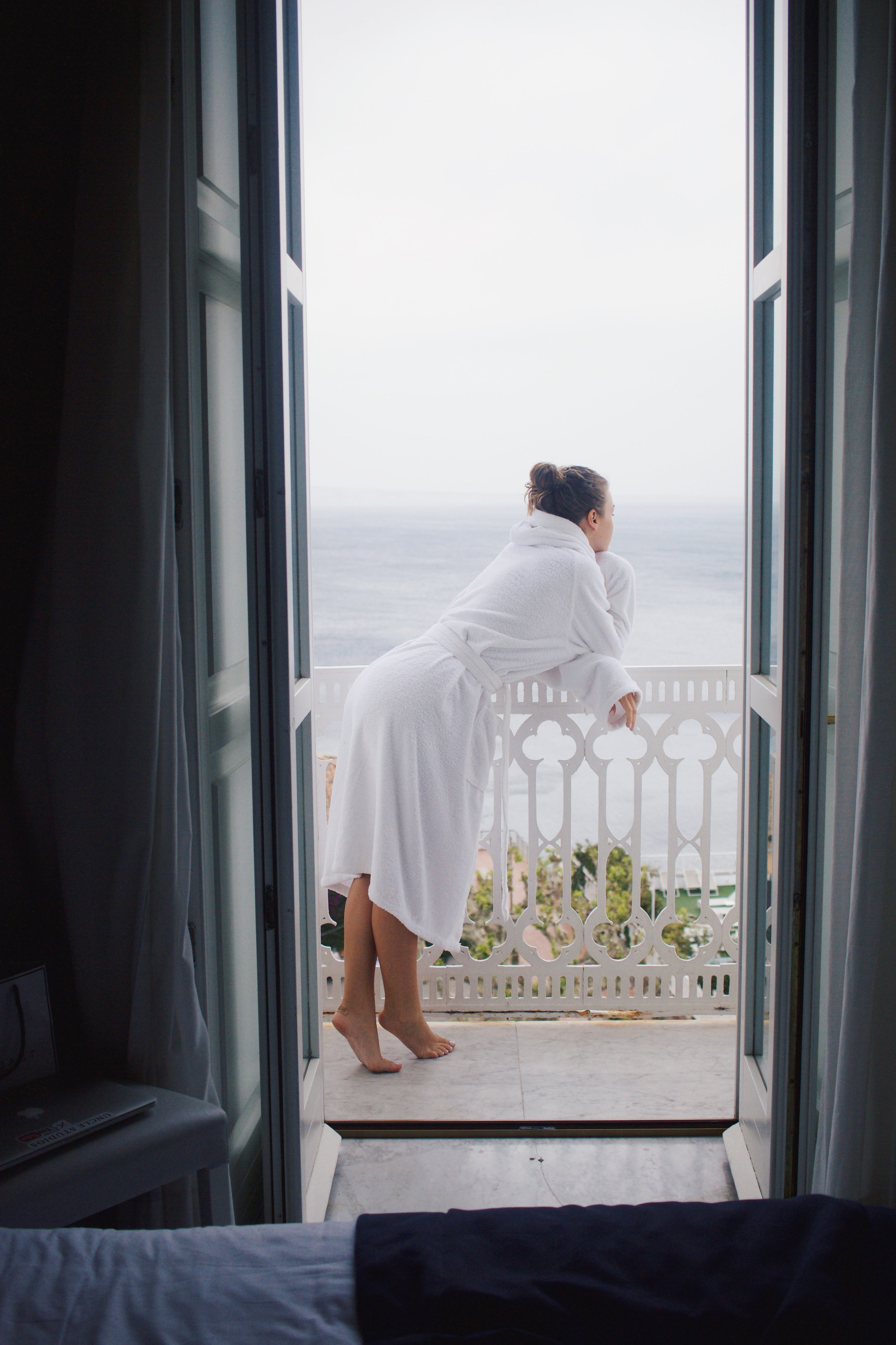 Robe life on our private balcony