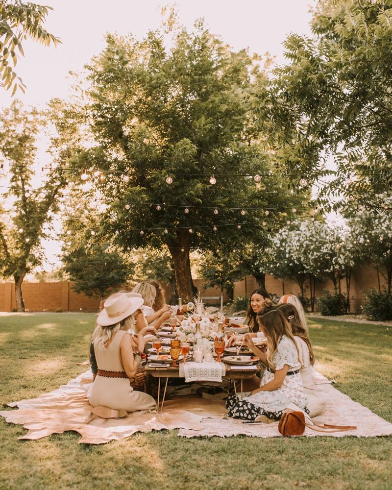 boho+dinner+party