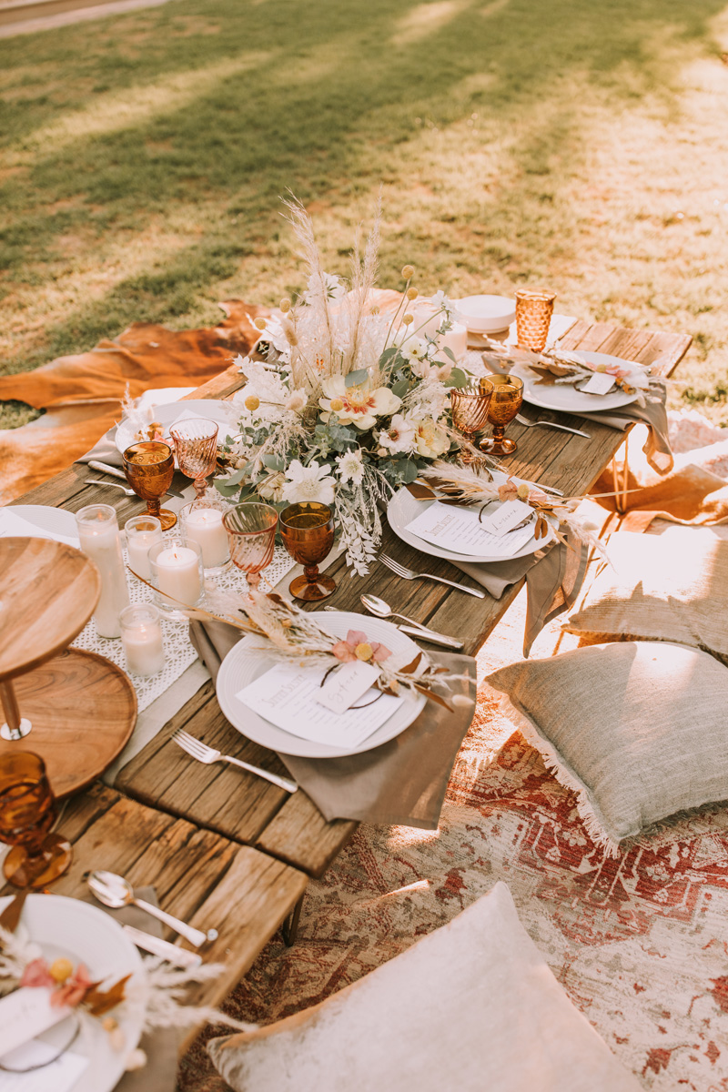 boho table settings