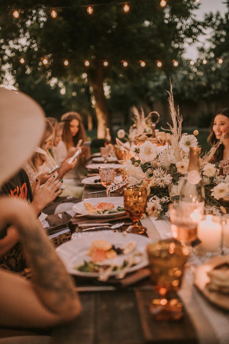 boho dinner party