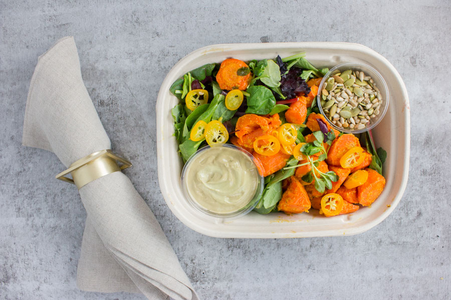 Citrus Carrot Salad with Herbed Coconut Dressing (VG, P)