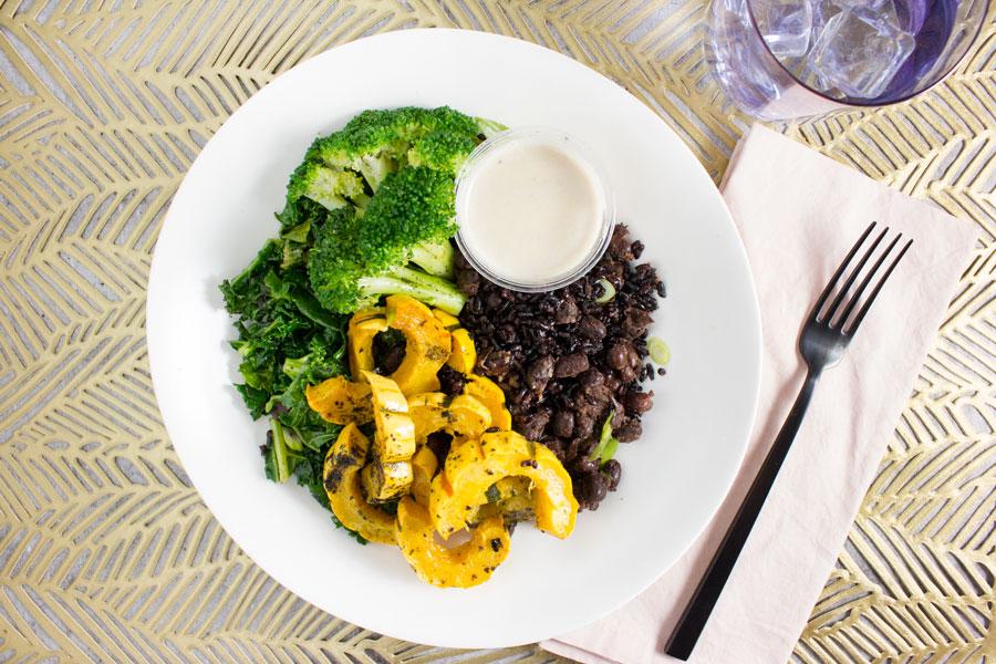 Lunch: Macrobiotic Kale Bowl with Umeboshi Tahini Sauce