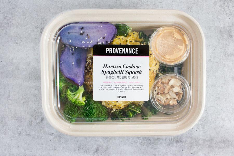 Lunch: Harissa Cashew Spaghetti Squash