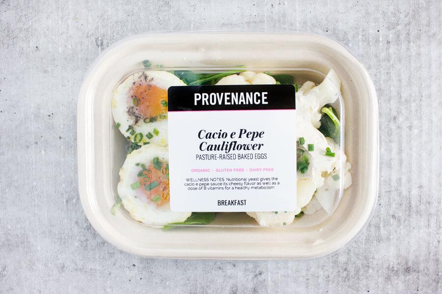 Breakfast: Cacio e Pepe Cauliflower with Pasture-Raised Baked Eggs