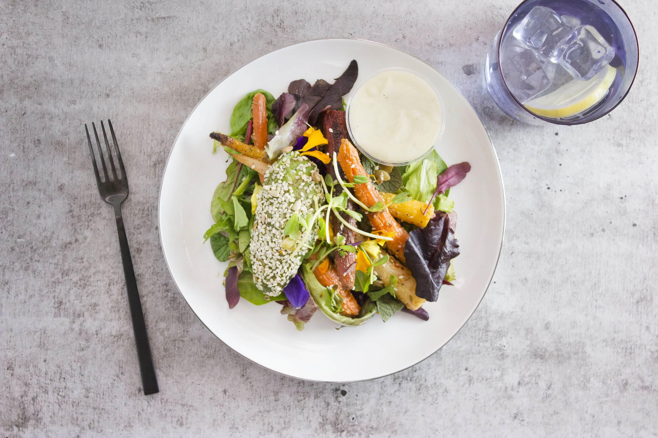 Lunch: Citrus Carrot Salad with Herbed Coconut Dressing