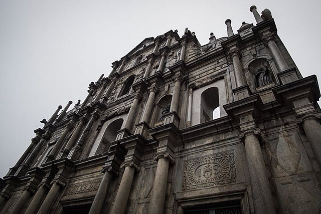 """A wet but beautiful day trip to Macau. Like visiting Europe, Asia and a mini-Vegas all in one day. Ducked into #MacauSoul and had """"the best Portuguese wine in Asia"""" with the owners while waiting for the storm to pass. Broke even on the roulette table. . . . #macau #macao #portuguese #ruinsofstpaul #oldlisboa #lisboa #casinolisboa #oldfort #oldfortress #macaufortress #portuguesewine #wine #redwine #cannon #cannons #fortress #fort #hongkong #hongkongmacau #macauferry #roulette #roulettetable"""