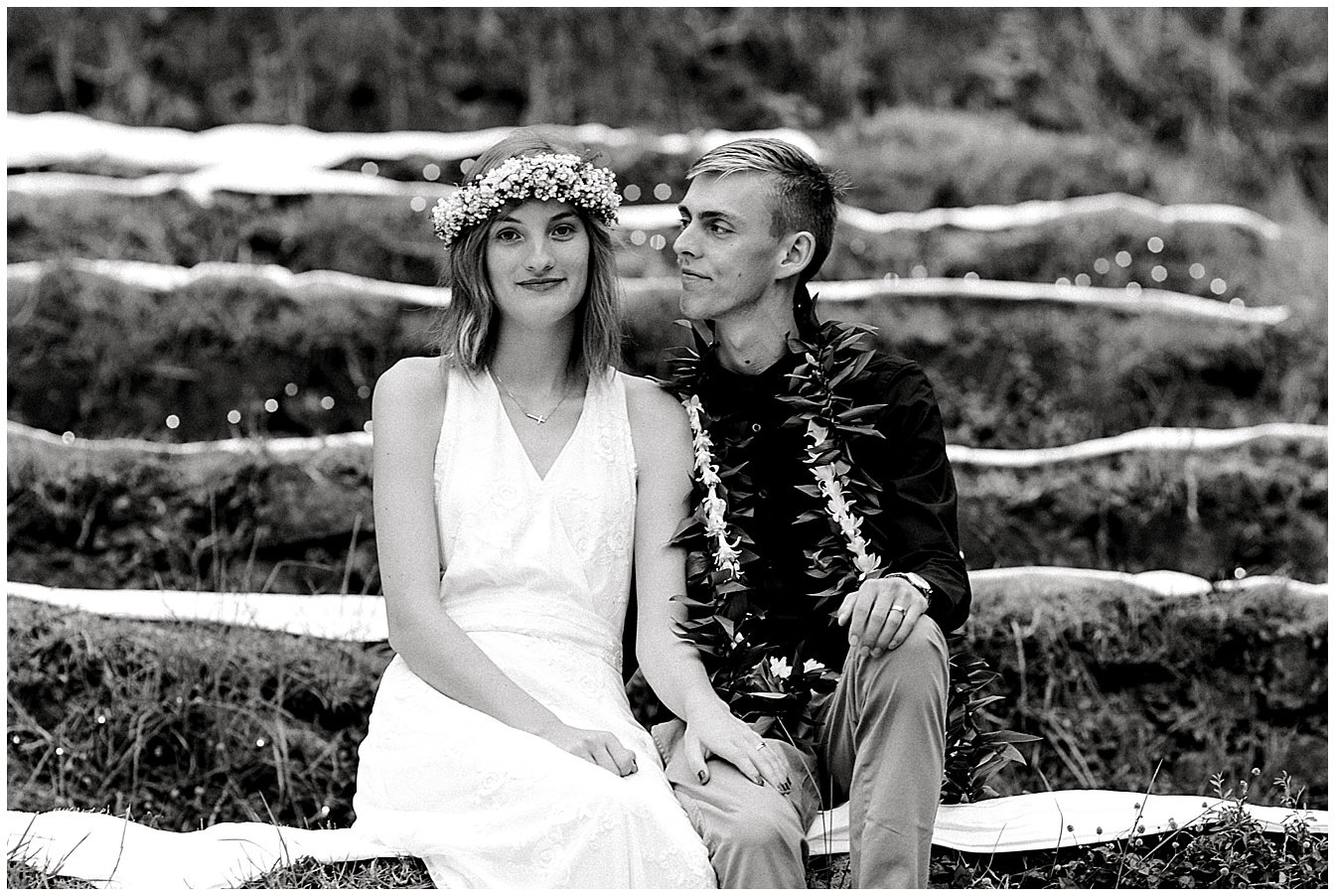Maui Wedding Couple at UpCountry Maui Wedding