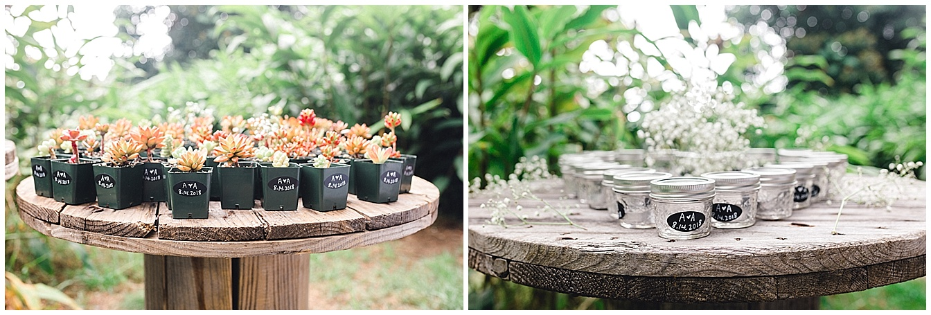 Maui Upcountry wedding reception details