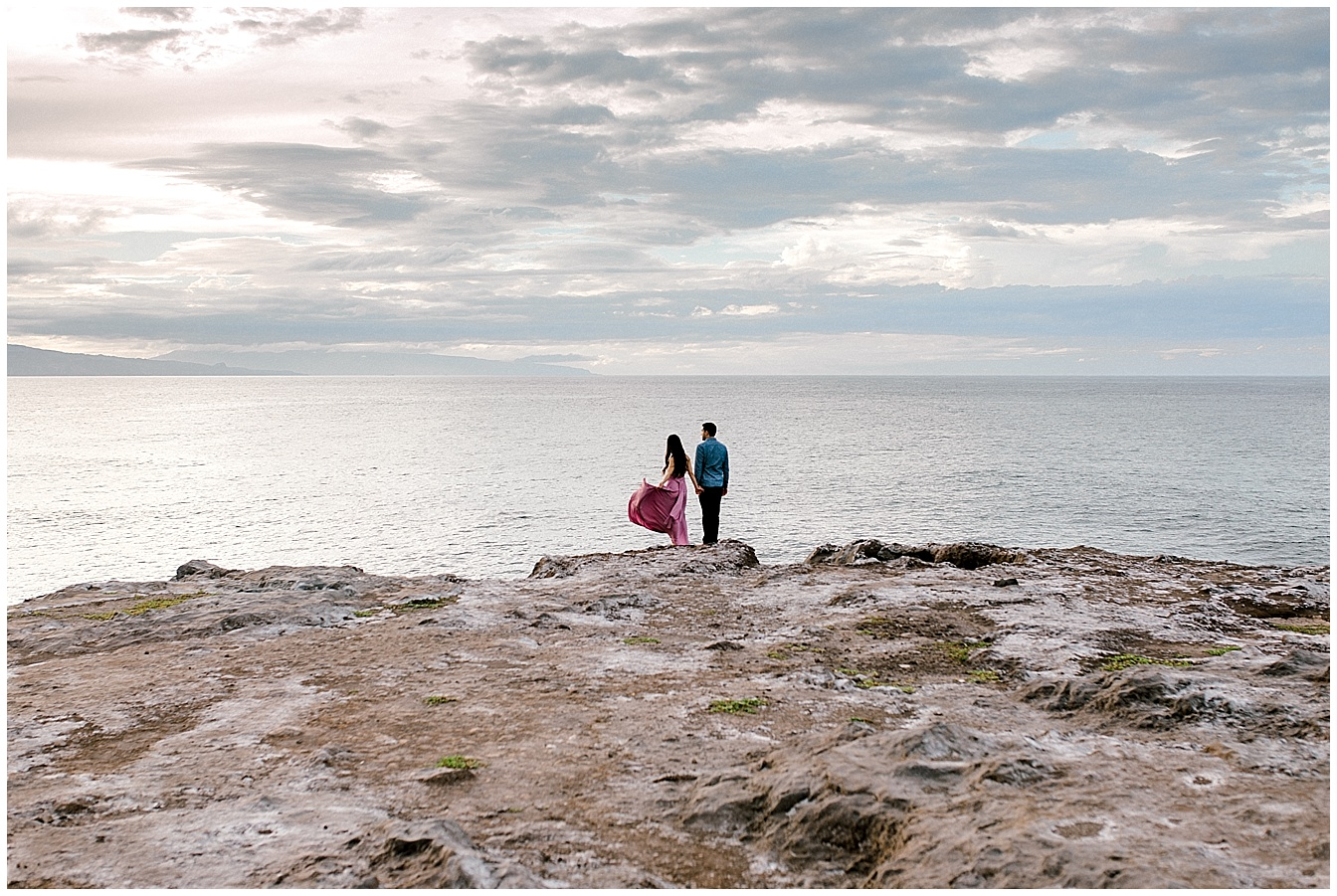 Maui Engagement on a Cliff