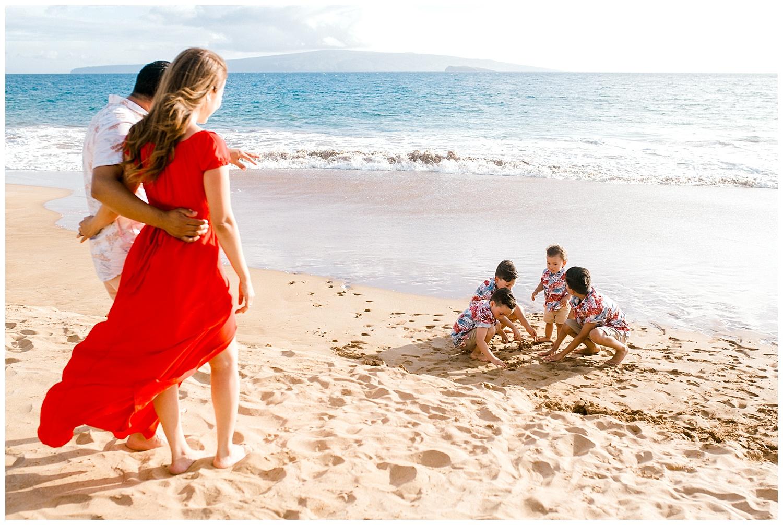 The M Family | Family Portraits on Po'olenalena Beach, Maui