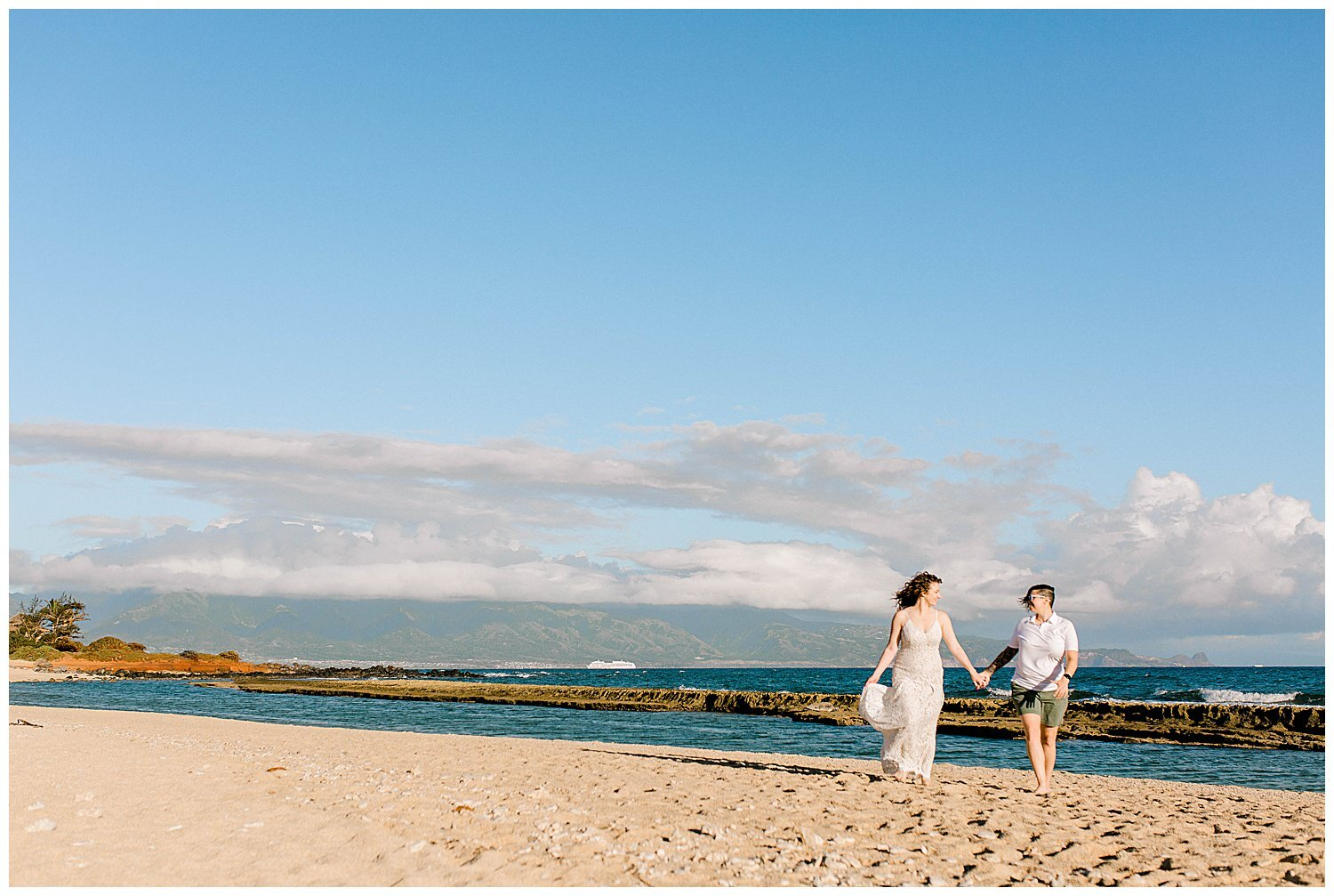 Rain was forecasted during this couple's session; however, it was a bright and sunny morning!
