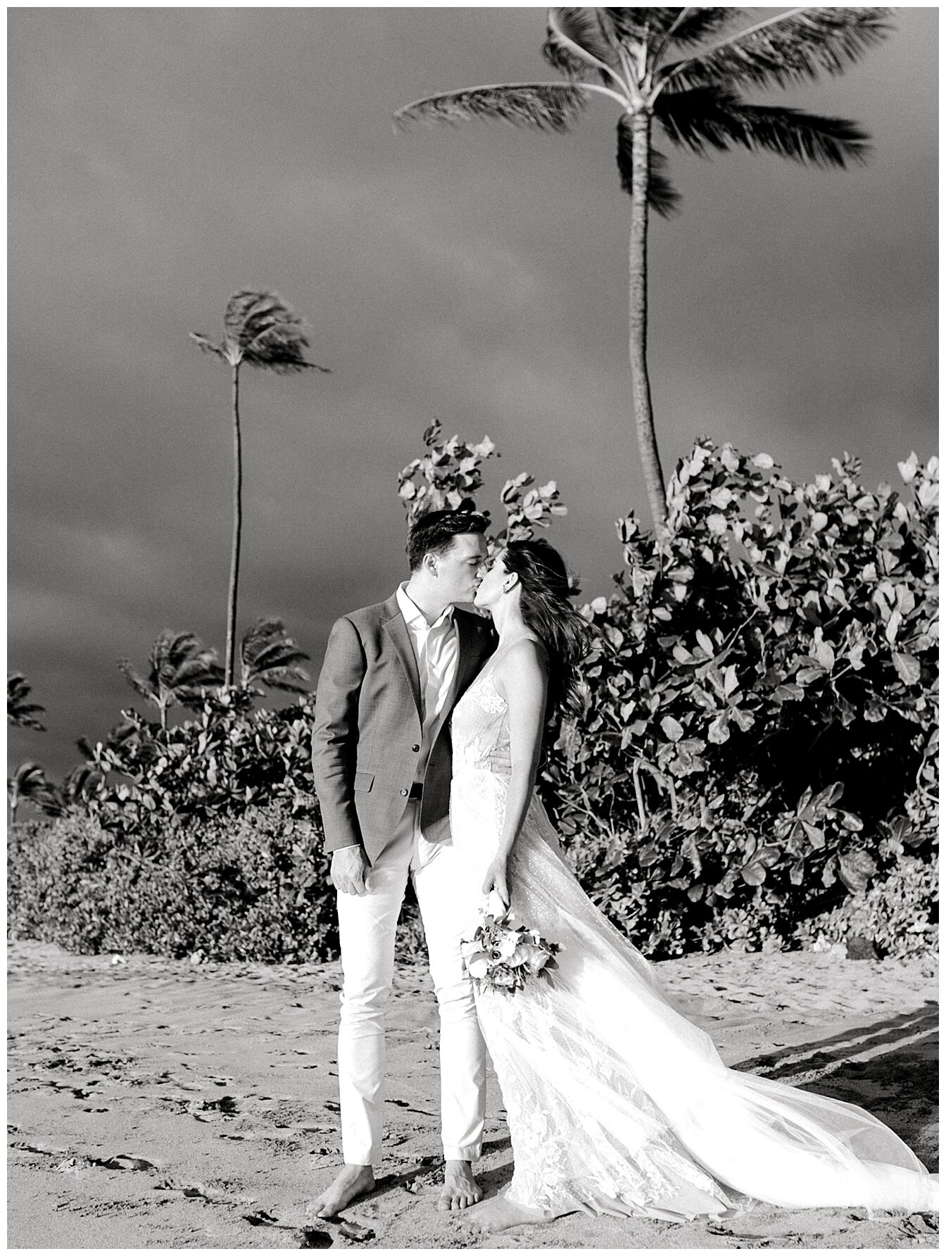 A breezy day on Maui's South Shore during a summer elopement.
