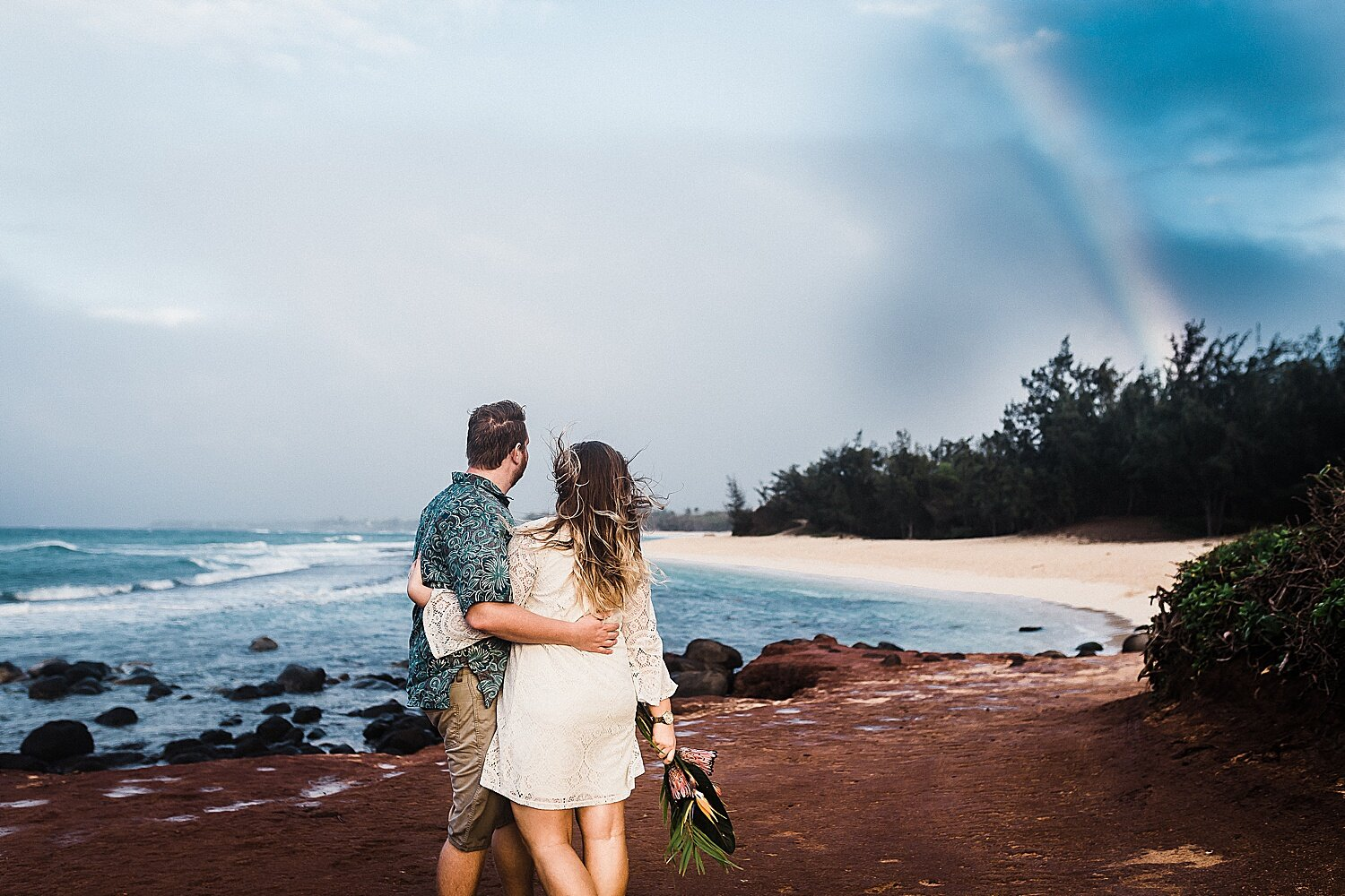 A rainbow captured during a couple's anniversary session.