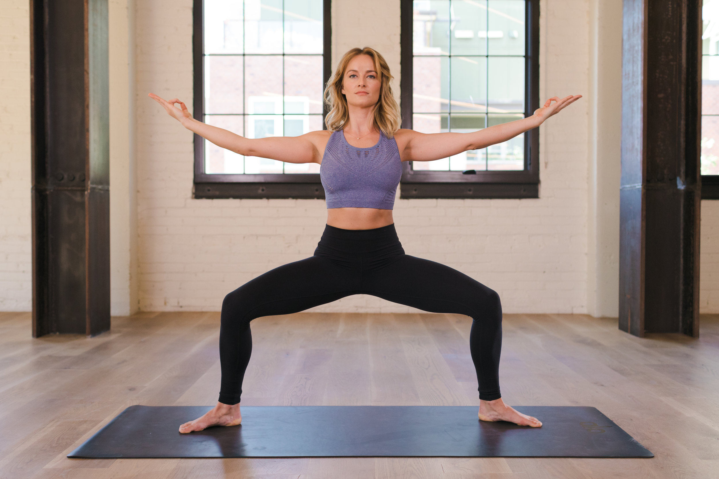 WAKE UP - Freshen up your morning with this 15-minute vinyasa flow. This class will wake up your whole body with active stretches, heated movement, and energizing breath of fire.