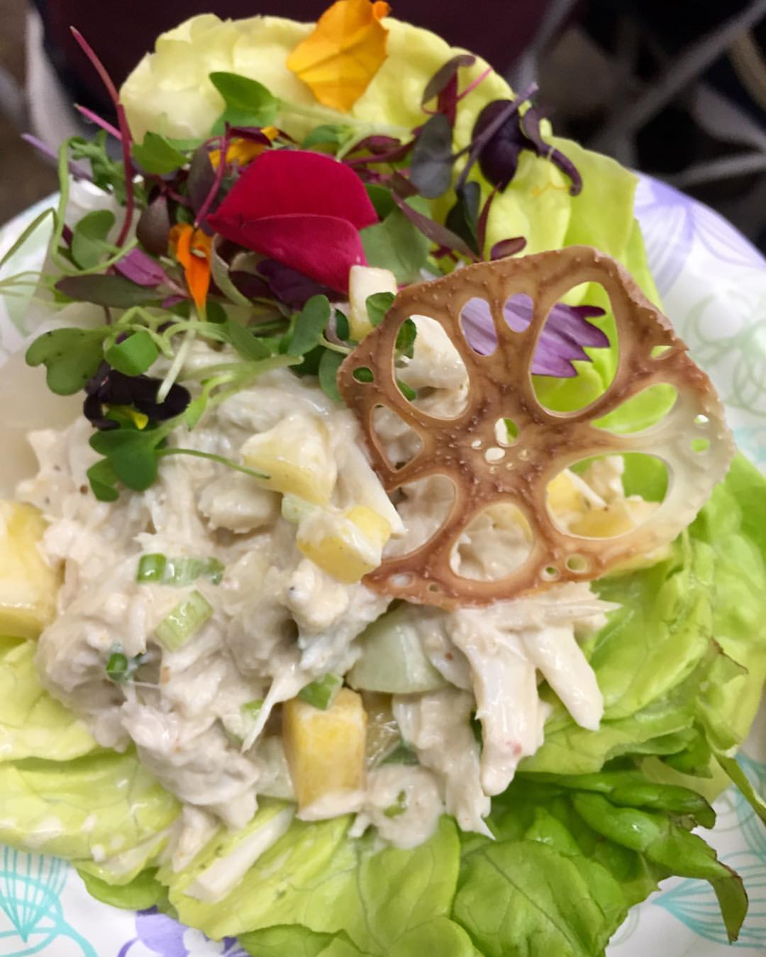 Crab Salad with Tamarind and Crispy Lotus Root