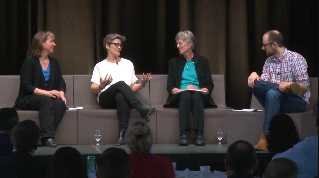 At KA Connect 2017, Parsons interviewed Julie Weston (HGA), Erika Eklund (HGA) and Dorothy Leonard (Leonard-Barton Group).