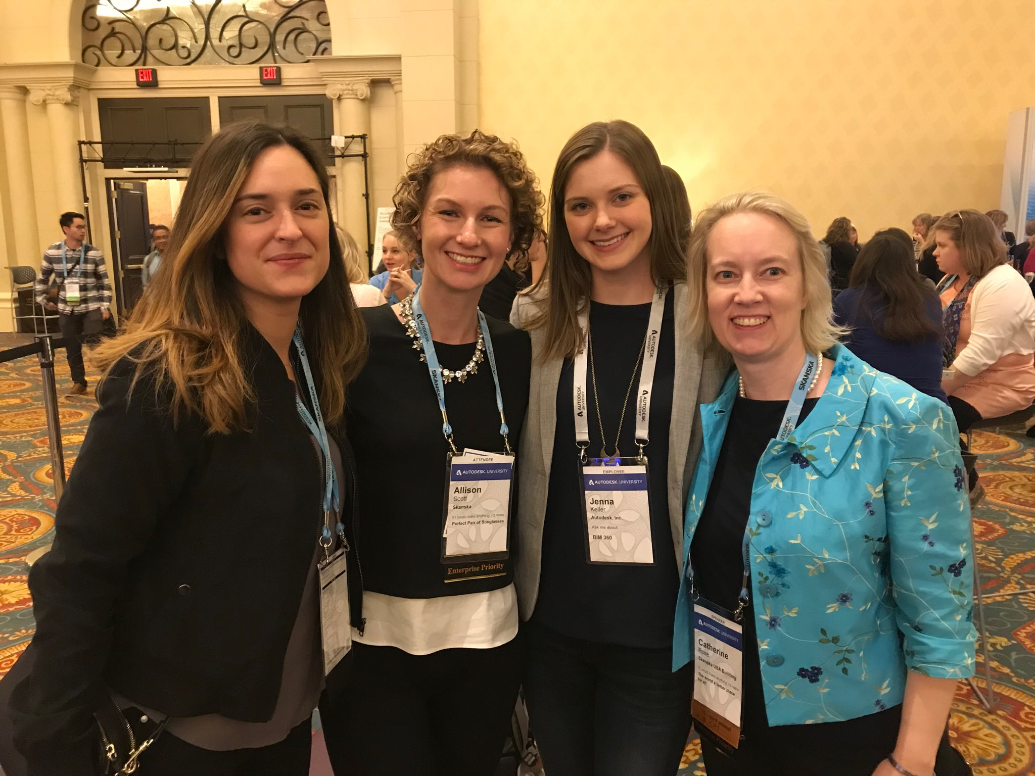 Scott joined several colleagues at the Women in Construction networking event at Autodesk University in 2017.