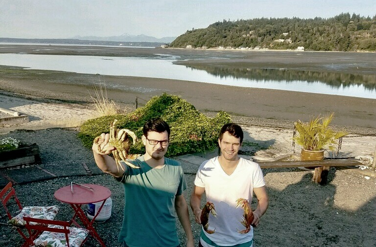 Chernick and his brother catch Dungeness crabs off the coast of Seattle, where they grew up.